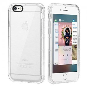 iPhone 6s Case, ENGIVE Ultra Transparent Crashproof Bumper Case with Scratch Resistant Clear Back Panel for Apple iPhone 6s 2015
