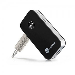 TaoTronics Bluetooth Receiver/Car Kit - Adapter 3.5mm Stereo Output (Bluetooth 5.0, A2DP, Built-in Microphone) for Home Audio Music Streaming Sound System