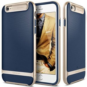 iPhone 6S case, Caseology [Wavelength Series] [Navy Blue] Textured Pattern Grip Cover [Shock Proof] for Apple iPhone 6S (2015) and iPhone 6 (2014)