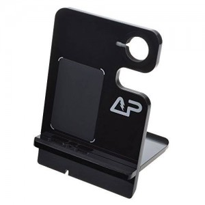 Lightning Power - Piano Black Acrylic Charge Dock Station Stand for Apple Watch iPhone 5 5S and 6