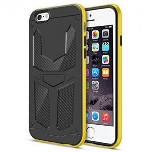 """iPhone 6S/ 6 Case, iKare Hybird Armor Case [Axser Series] (for iPhone 6 / 6S 4.7"""", Yellow/Black)"""
