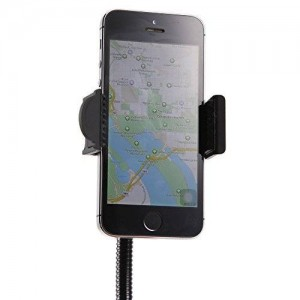 ETvalley Car Mount, Car Smartphone Holder with Dual USB 2.1A, 5V Charger With Over Charge and Over Current Protection