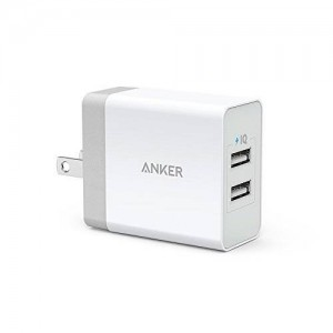 Anker 24W 2-Port USB Wall Charger with Foldable Plug and PowerIQ Technology for Apple iPhone 6 / 6 Plus