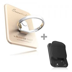 """Kickstand; Original """"Bunker Ring Essentials """" Cell Phone and Tablets Anti Drop Ring for Iphone Plus Ipad Ipod Samsung Galaxy Note Universal Mobile"""