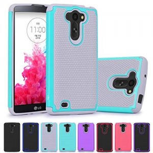LG G Vista Case, LK [Shock Absorption] [Impact Resistant] Hybrid Dual Layer Armor Defender Protective Case Cover for LG G Vista (Mint)