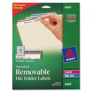 Avery Removable 2/3 x 3 7/16 File Folder Labels 750 Pack (6466)
