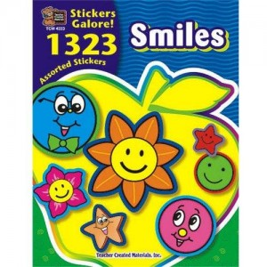 Teacher Created Resources 4223 Sticker Book, Smiles, 1,323/Pack.