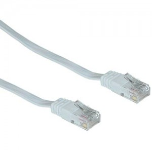 CableWholesale Cat5E 32 AWG 35-Feet Wholesale Electronics Accessories White Flat Ethernet Patch Cable (845-10X6-69135)