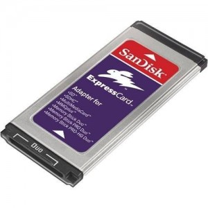 Sandisk SDAD109A11 Digital Media Memory Card to Express Slot Adapter
