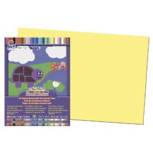 "SunWorks Construction Paper, 12""X18"", Yellow, 50 Sheets"