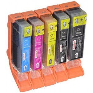 Unknown Compatible Ink Cartridge Replacement for Canon PGI225 and CLI226 (1 Large Black 1 Small Black 1 Cyan 1 Magenta 1 Yellow) 5 Pack