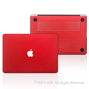 "Top Case Red Rubberized Hard Case Cover for Apple MacBook Pro 13.3"" with Retina Display Model: A1425 and A1502"