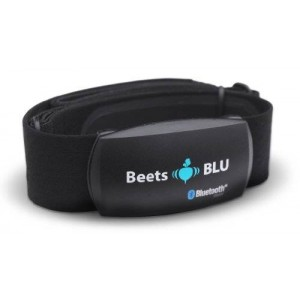 Beets BLU Bluetooth Wireless Heart Rate Monitor with soft chest strap. Compatible with iPhone and Android Phones