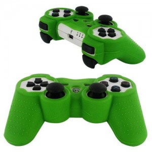Skque Silicone Soft Case Cover for Sony PlayStation 3 Controller, Green