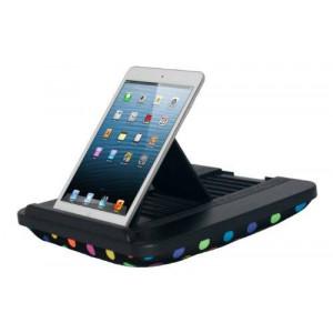 Prop 'n Go Slim - iPad Pillow with Adjustable Angle Control for iPad Air, iPad mini, iPad Pro, iPhone, Tablets, eReaders, and more (Polka Dots)