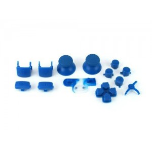 Console Customs PS3 Blue Full Parts Set (Thumbsticks, Buttons, D-pad, Triggers, Start/Select) for Playstation 3 Controller