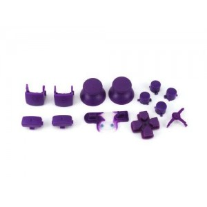 Console Customs PS3 Purple Full Parts Set (Thumbsticks, Buttons, D-pad, Triggers, Start/Select) for Playstation 3 Controller