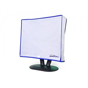 """Computer Dust Solutions, LLC Dust and water resistant silky smooth antistatic vinyl LCD Monitor Dust Cover for 21"""" LCD (19.5W x14.5H x3D)"""