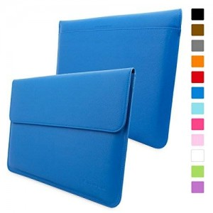 Snugg Macbook Pro 15 Case - Leather Sleeve Case with Lifetime Guarantee (Electric Blue) for Apple Macbook Pro 15 Inch