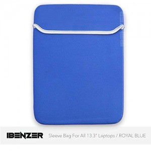"iBenzer - Sleeve Bag Cover Case for ALL Laptop 13"" 13 inch Macbook Pro/ Macbook Unibody / Macbook Air (Royal Blue MMP13BAG/RBL)"