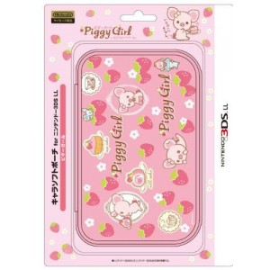 Shishikuiya Nintendo Official Kawaii 3DS XL Soft Case -Piggy Girl-