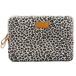 KayondCute Leopard's Spots Style Canvas Fabric Ultraportable Neoprene 12-12.5 Inch Laptop