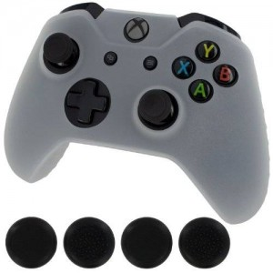 Generic New Silicone Cover Case Skin Controller and grip stick caps for Xbox One (white)