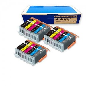 Inkjetcorner 18 Pack Compatible with Canon 250