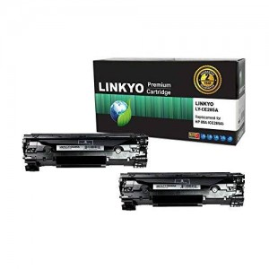 LINKYO Compatible Toner Cartridges Replacement for HP 85A CE285A (Black, 2-Pack)