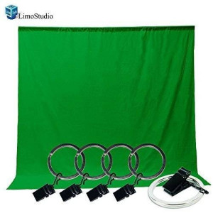 LimoStudio Photo Video Photography Studio 5x10ft Green Muslin Backdrop Background Screen with 5x Backdrop Holder Kit, AGG1338