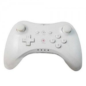 XFUNY(TM) New Wireless Game Classic Pro Controller Remote Pro Commander for Nintendo Wii U-White