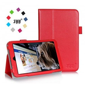 [Corner Protection] Hisense Sero 8 Case Cover, FYY Premium Soft Folio Leather Case for Hisense Sero 8 Red