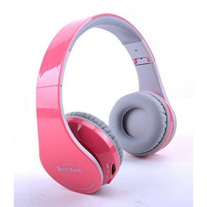 New Pink color Beyution513@ Over-ear-- HiFi Stereo---Built in Clear Mic-phone--Pink BLUETOOTH HEADPHONES HEADSET