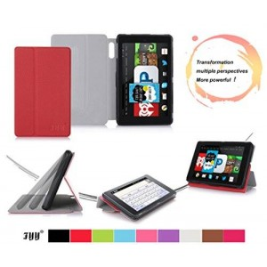"""Fire HD 6 (2014 Edition) case, FYY Ultra Slim Lightweight Premium PU Leather Smart Cover Stand Case for Fire HD 6, 6"""" HD Display 2014 Red"""