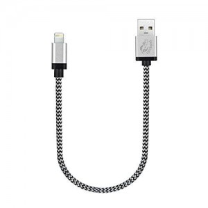Cambond Short Lightning Cable Charger Cord 1ft - Silver