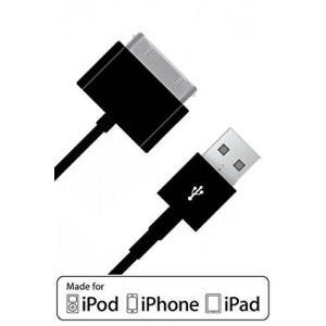 iPhone 4 4s Charger : Stalion Stable 30-Pin USB Sync Cable and Charging Dock Cord [Apple MFi Certified](Black)(6.5Feet