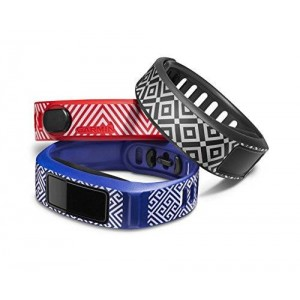 Garmin vívofit Style Collection Wrist Bands (Small) (Blue/Slate/Red)