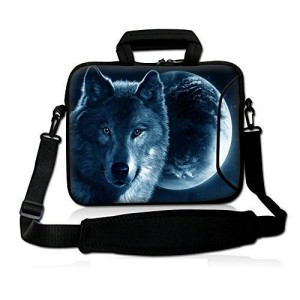 Colorfulbags Universal Moon Wolf 9.7 to 10.2 inch iPad Air and Netbook Shoulder Bag Case Cover with Handle Pockets Fits 9.7 to 10.2 -Inch Tablets