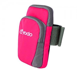 Yodo Outdoor Sports Cellphone Armband Case with 2 Pockets for Ipod / IPhone 6 / 6 Plus / 5 / 5S / 5C / 4 / 4S / Samsung Galaxy S5 / S4 / S3, Rose