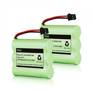 2-Pack iMah Ryme B10 BT-905 BT-800 Nickel-Cadmium Rechargeable Cordless Phone Battery for Uniden BT905 BBTY0663001 BBTY-0444001 BBTY-0449001