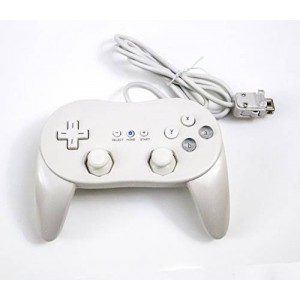 Old Skool Wii Classic Pro Controller for Wii and WiiU White