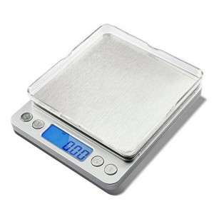 Etekcity 2000g Digital Pocket Scale, Stainless Steel, Backlit Display, Tare and PCS Features, 0.01oz Resolution