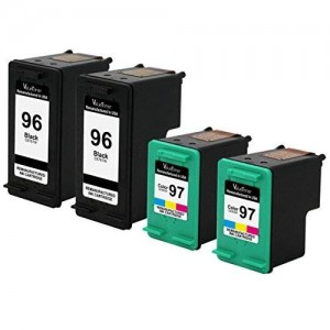 Valuetoner Remanufactured Ink Cartridge Replacement For Hewlett Packard HP 96 and HP 97 C8767WN C9363WN (2 Black