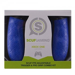 Scuf Gaming SCUF FPS Adjustable Trigger and Pro Grip Combo Kit - Xbox One Compatible (Blue)