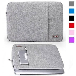 Lacdo 11-11.6 Inch Waterproof Fabric Laptop Sleeve Case Notbook Bag for MacBook Air 11.6-inch Ultrabook Acer / Asus / Dell Toshiba Chromebook, Gray