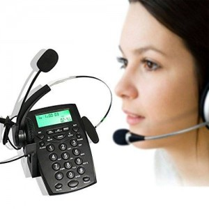 YueYueZou Call Center Dialpad Monaural Corded Headset Headphone Telephone with Tone Dial Key Pad and REDIAL