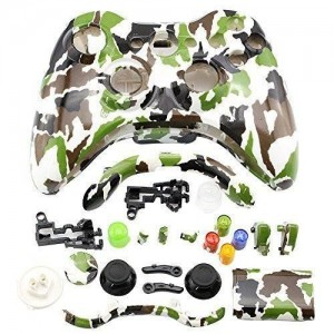 Super Target 1 Super Controller Shell Case Cover Replacement Kit for Xbox 360 w/ Button Set, Camo