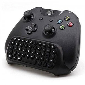 DLAND 2.4G Mini Wireless Chatpad Message Game Controller Keyboard for Microsoft Xbox One Controller Black by