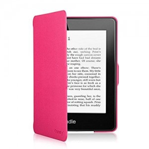 Coredy Lightweight Case Cover for Amazon Kindle Paperwhite (2012, 2013 and 2015 Version) with Auto Wake/Sleep Function (Hot Pink)