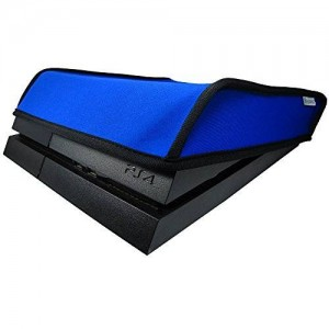 Pandaren Sony PS4 Console Soft Dust Proof Neoprene Cover Sleeve for Horizontal Place (Blue)